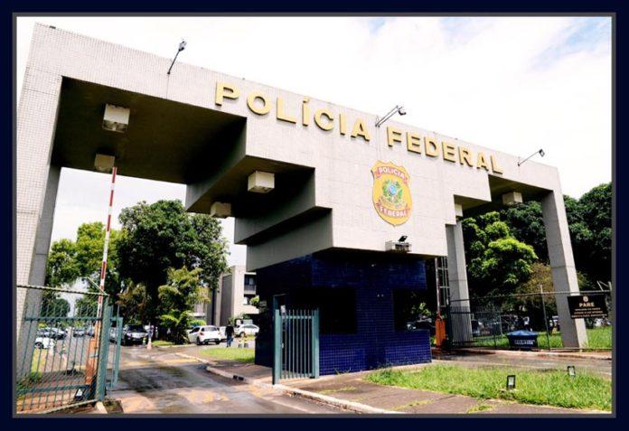 Fachada da Policia Federal em Brasília.