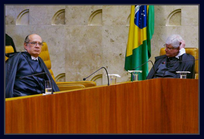 Ministro do STF, Gilmar Mendes e o Procurador-geral da República, Rodrigo Janot