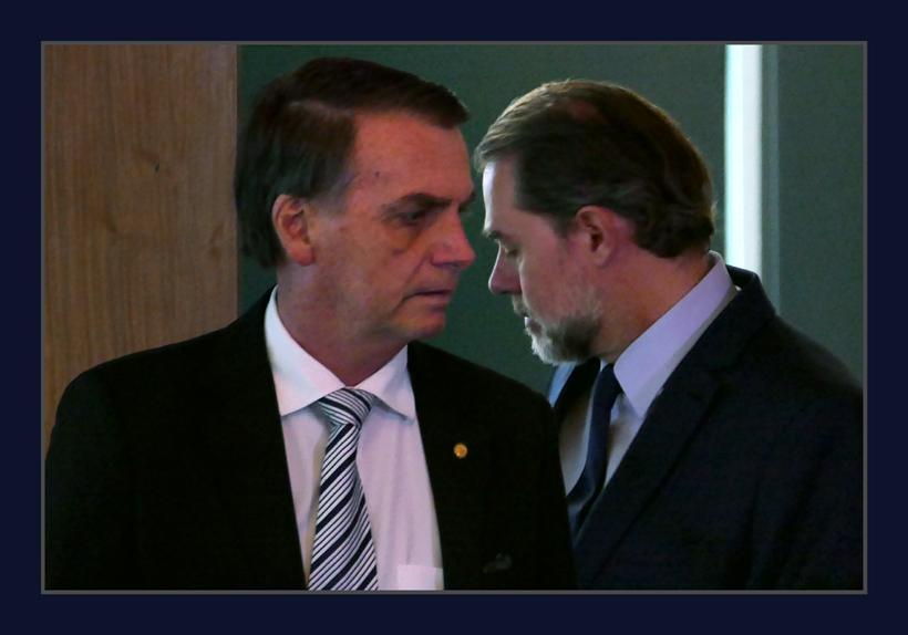 Resultado de imagem para Bolsonaro e Toffoli